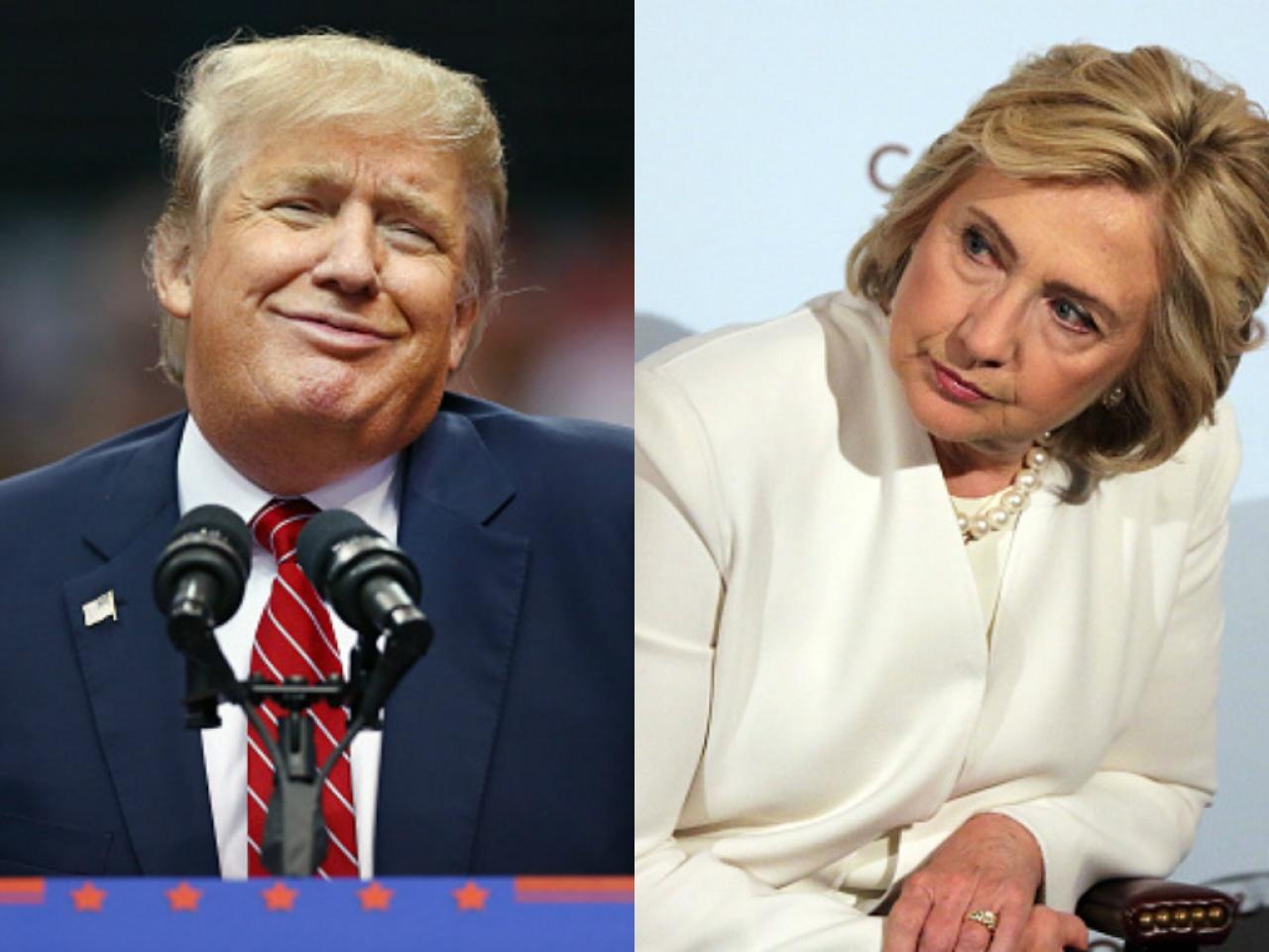 民調顯示,特朗普支持度首勝希拉里0.2個百分點。(Getty Images)