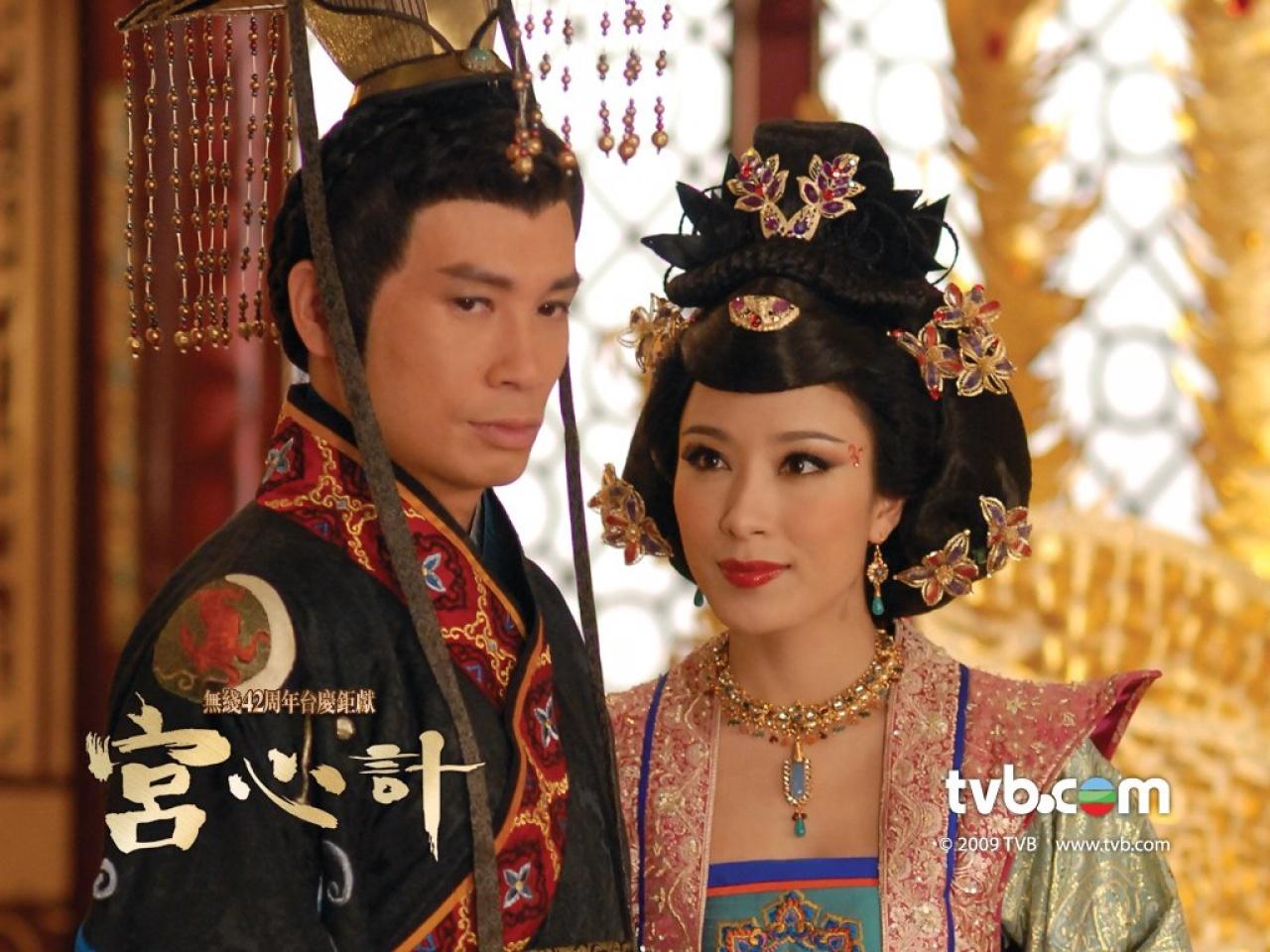 楊怡在熱爆劇《宮心計》挑戰奸角,與陳豪有多場對手戲,令觀眾眼前一亮。(劇照)