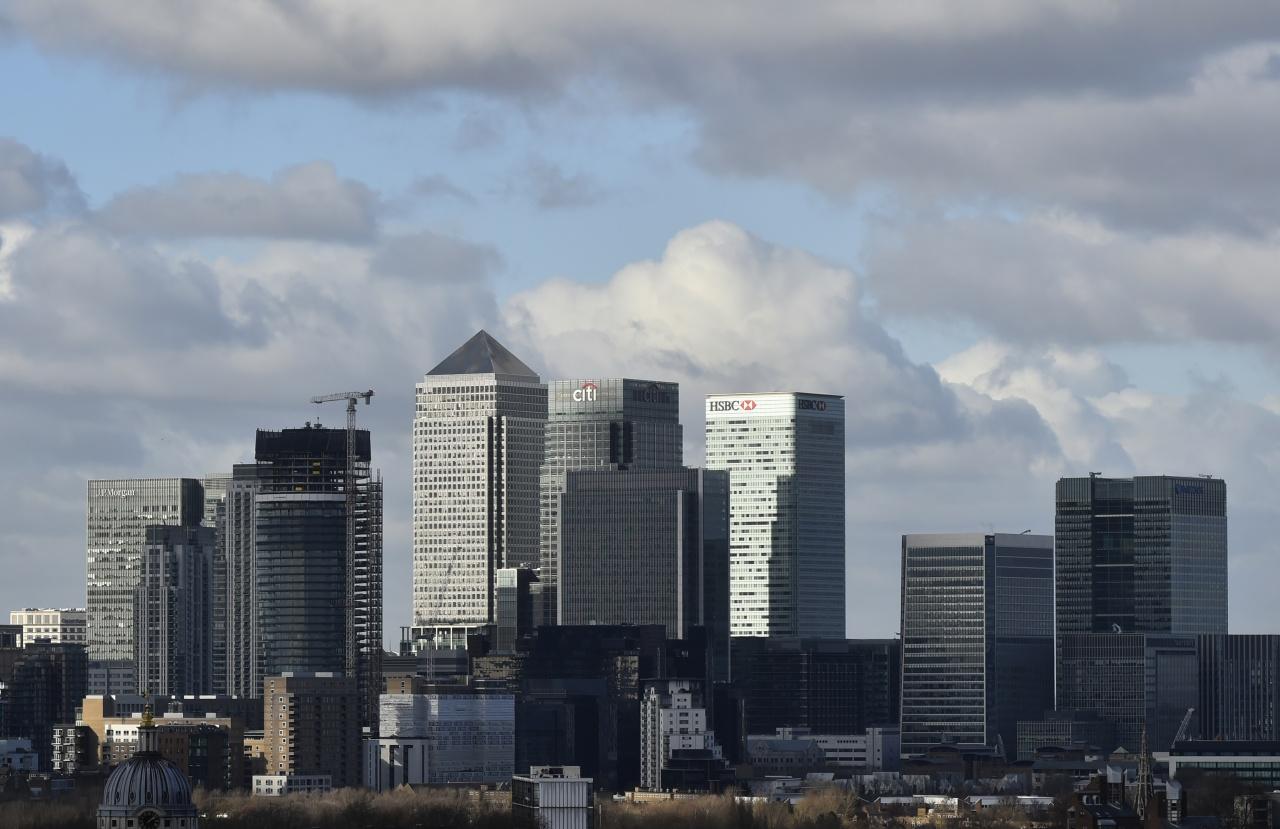 與歐盟關係密切的英國金融業將會受脫歐影響;圖為倫敦金融區。(路透社)