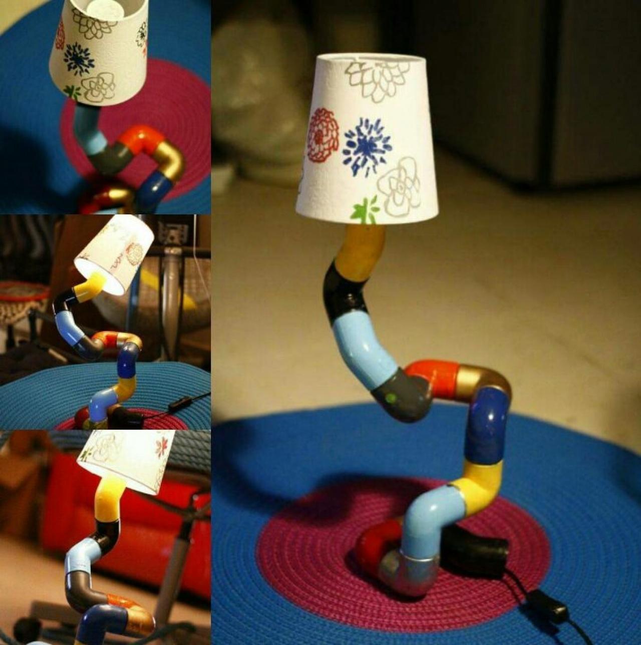 除翻新輪胎外,Re.Tire創辦人之一的Mahdy亦設立了另一家創企Re.Pipe,把這些重用的想法應用在舊水管中,製作燈和桌子等。(Re.Tire Facebook)