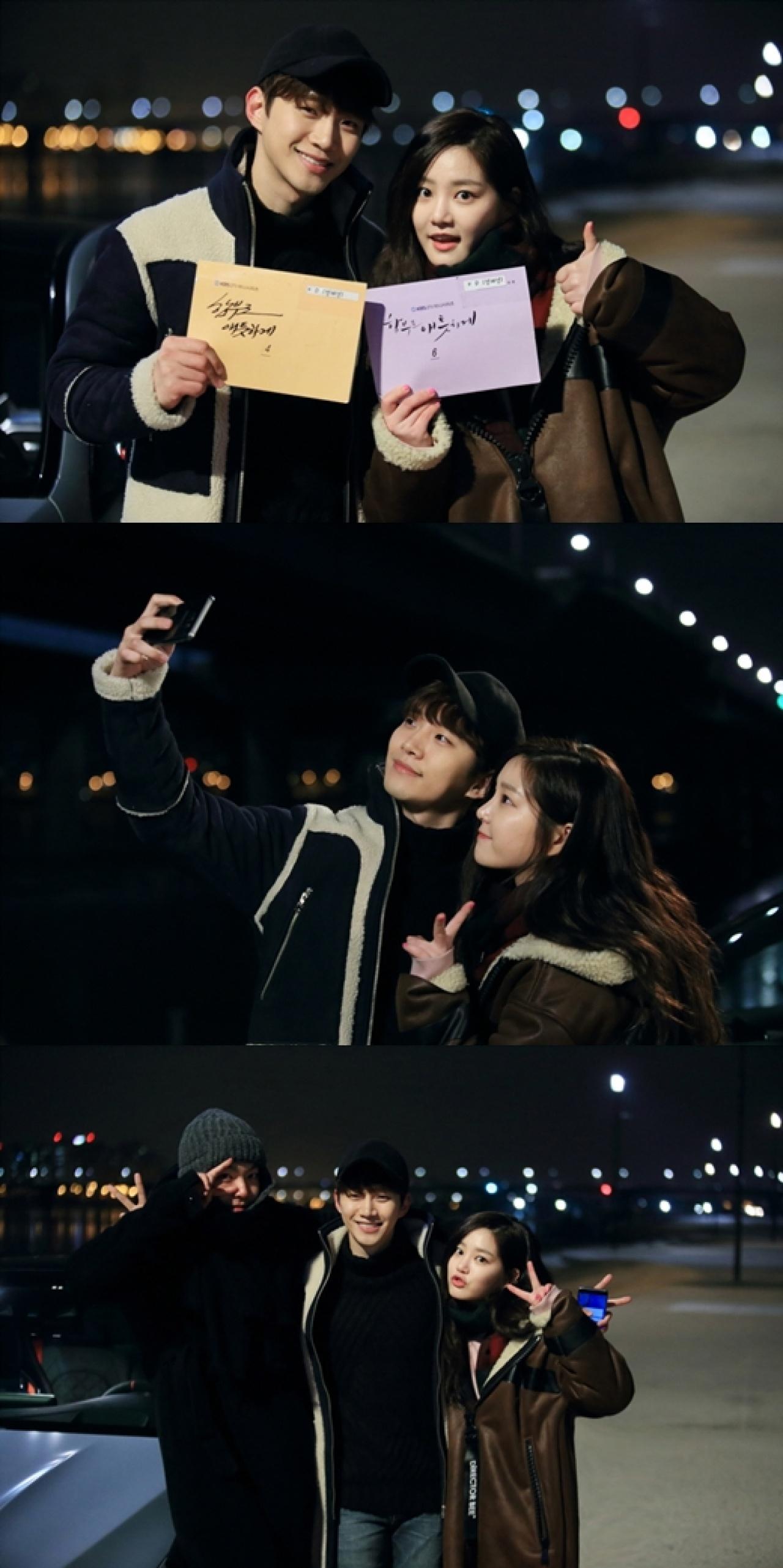俊昊和李侑菲齊齊客串《任意依戀》,捱眼瞓拍攝,認真夠義氣!(網上圖片)