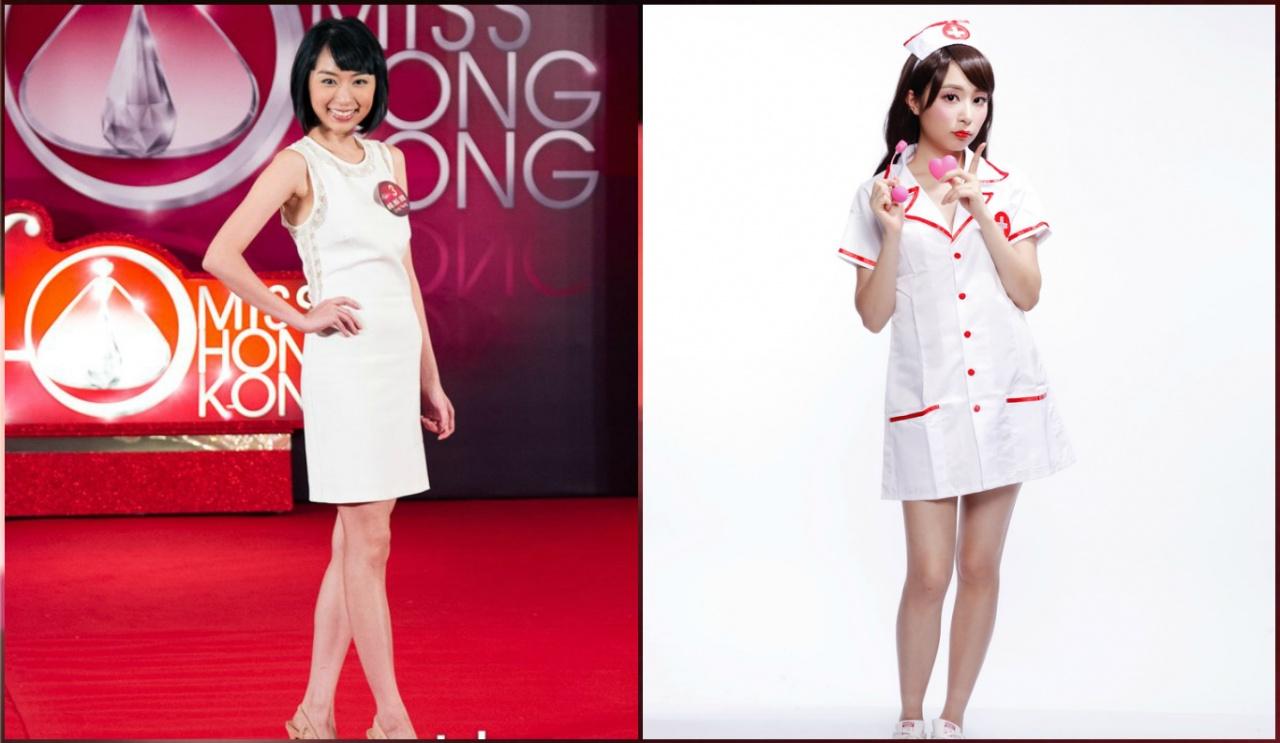Cindy2012年曾參選港姐(左圖),現在已搖身一變成「IG性女」(右圖),突圍創業售賣性商品。(TVB.COM圖片/受訪者提供)