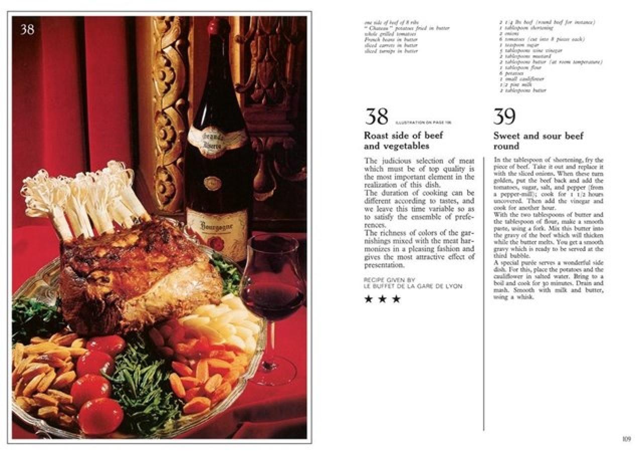 書中所介紹的菜式都是著名巴黎餐廳會看到的主要菜式,你可能需要一定的烹調技巧和豐富的材料。(圖片來源﹕Taschen)