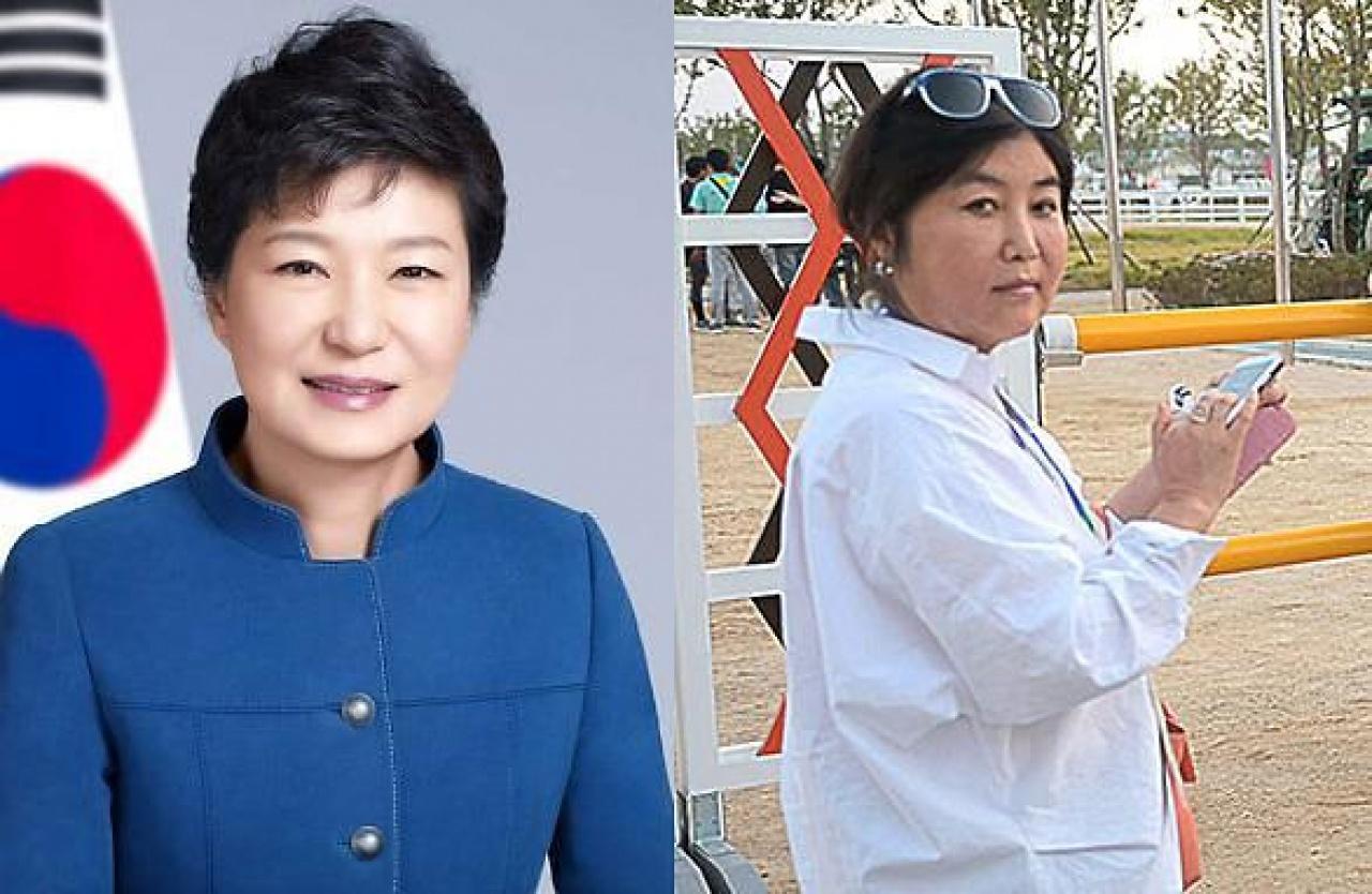 朴槿惠(左)和崔順實(右)(網絡圖片)