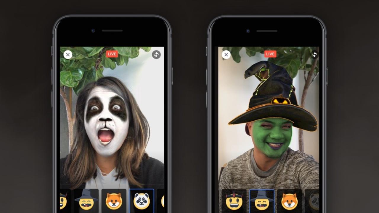 FB推出「Live面具」功能。(FB圖片)