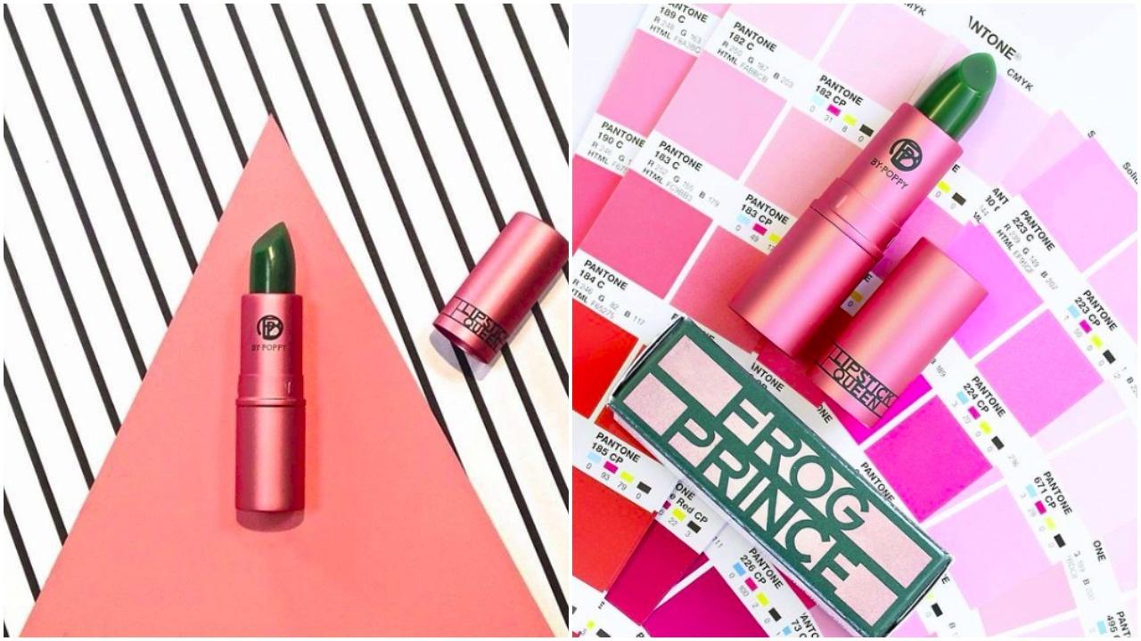 這支Frog Prince更可以演變出不同深淺程度的紅。青蛙王子變色唇膏Frog Prince Lipstick HK$220/ 3.5g(Lipstick Queen instagram)