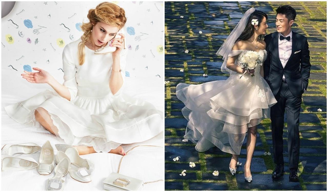 林心如穿上品牌的高跟鞋行禮,從此成為女士們的dream shoes。(網上圖片)